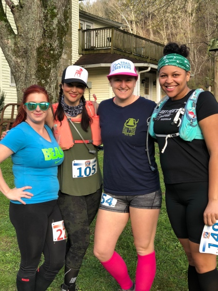 Some of the ladies pre-race!